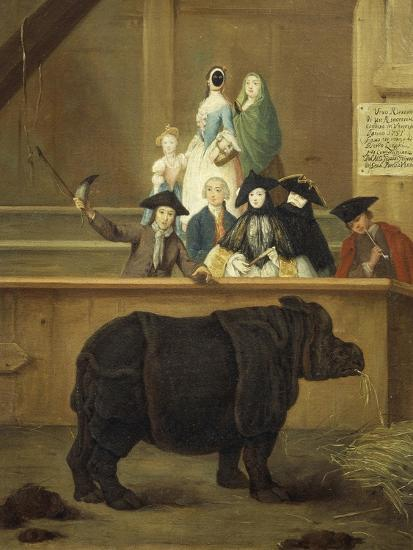 The Exhibition of the Rhino, 1751-Pietro Longhi-Giclee Print