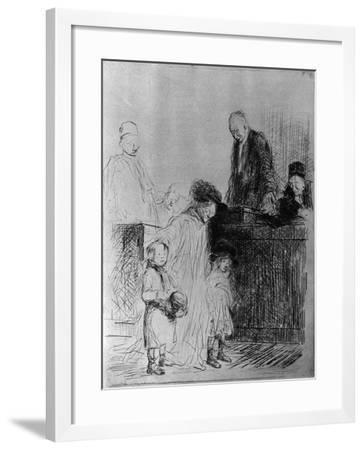 The Exit of the Audience, 1925-Jean Louis Forain-Framed Giclee Print