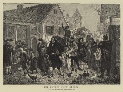 The Exodus from Alsace--Giclee Print