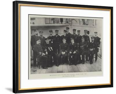 The Expedition Against the Sierra Leone Insurgents, Officers of HMS Fox--Framed Giclee Print