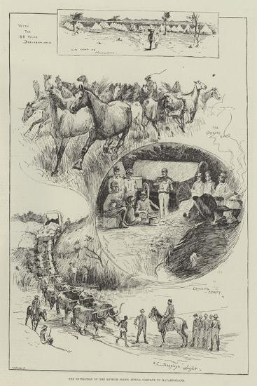 The Expedition of the British South Africa Company to Matabeleland-Henry Charles Seppings Wright-Giclee Print