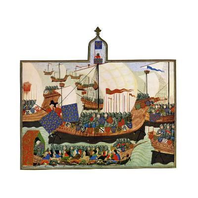 The Expedition of the French and Genoese to Barbary, 15th Century--Giclee Print