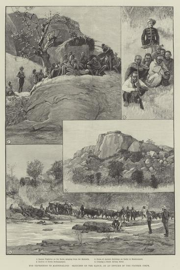 The Expedition to Mashonaland, Sketches on the March--Giclee Print