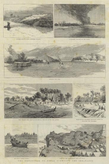 The Expedition to Upper Burma, Up the Irrawaddy--Giclee Print