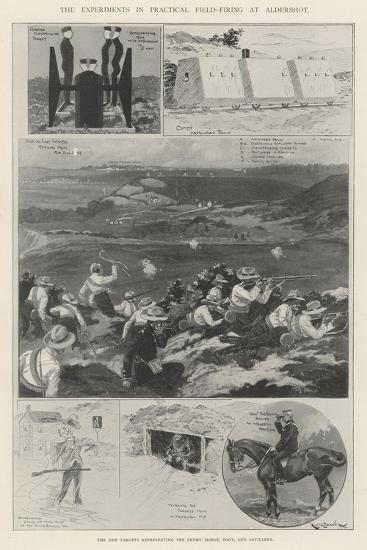 The Experiments in Practical Field-Firing at Aldershot-Ralph Cleaver-Giclee Print