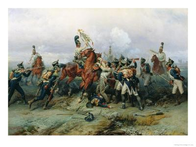 The Exploit of the Mounted Regiment in the Battle of Austerlitz, 1884-Bogdan Willewalde-Giclee Print