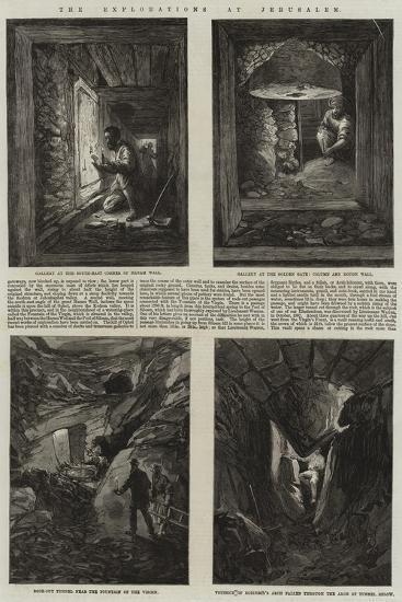 The Explorations at Jerusalem--Giclee Print