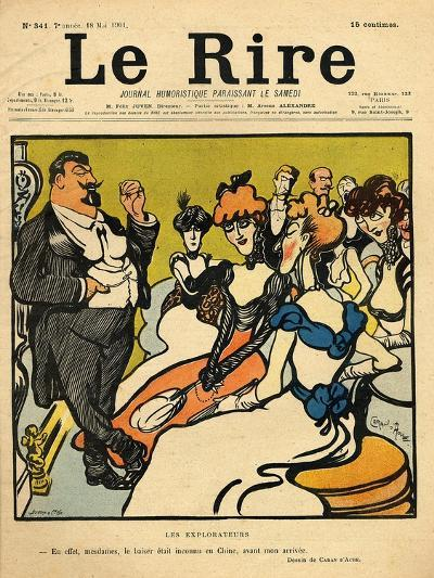 The Explorers, from the Front Cover of 'Le Rire', 18th May 1901-Emmanuel Poire Caran D'ache-Giclee Print