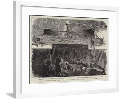 The Explosion at the Bulli Colliery New South Wales, Australia-Joseph Nash-Framed Giclee Print