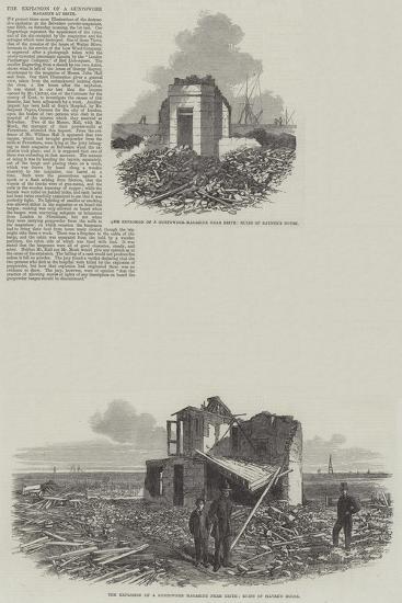 The Explosion of Gunpowder Magazine at Erith--Giclee Print