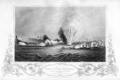 The Explosion of the 'Imperial Mole' During the Bombardment of Odessa, Ukraine, 1854-George Greatbatch-Giclee Print