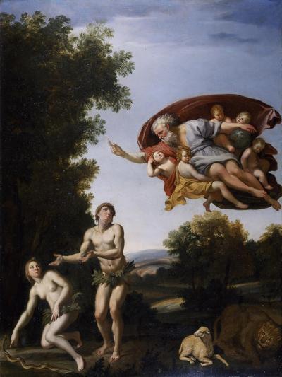 The Expulsion of Adam and Eve-Domenichino-Giclee Print