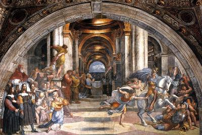 The Expulsion of Heliodorus, 1511-1512-Raphael-Giclee Print