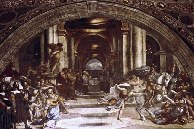 The Expulsion of Heliodorus from the Temple, 1512-1514-Raphael-Giclee Print