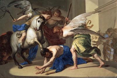 The Expulsion of Heliodorus from the Temple, C1650-Bernardo Cavallino-Giclee Print