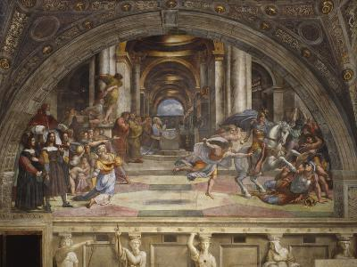 The Expulsion of Heliodorus from the Temple, Stanza Di Eliodoro, 1511-12-Raphael-Giclee Print