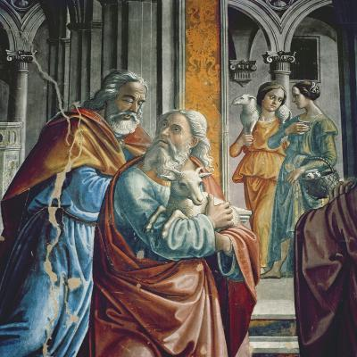 The Expulsion of Joachim from the Temple, Detail, 1485-90-Davide & Domenico Ghirlandaio-Giclee Print
