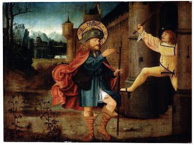The Expulsion of Saint Roch from Rome, Late 15th Century--Giclee Print