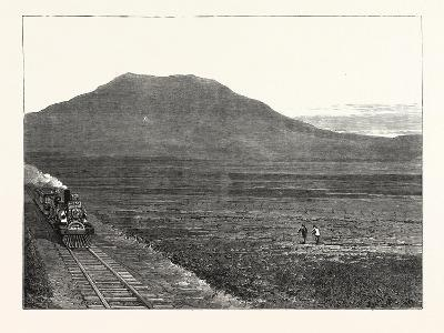 The Extension of the Natal Railway to Charlestown Majuba Hill: the Line at the Foot of Majuba Hill--Giclee Print