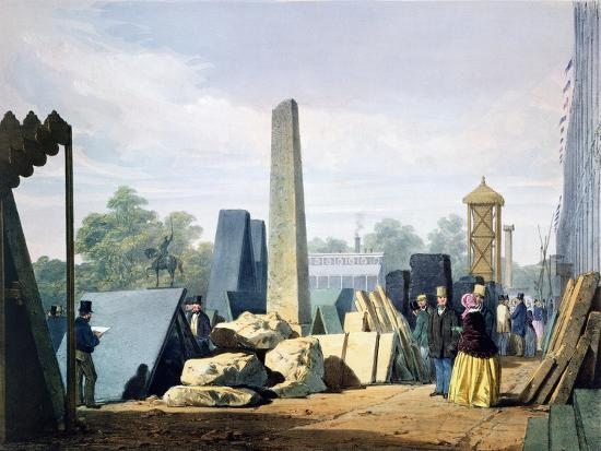 The exterior, Great Exhibition, Hyde Park, London, 1851 (1854)-Unknown-Giclee Print