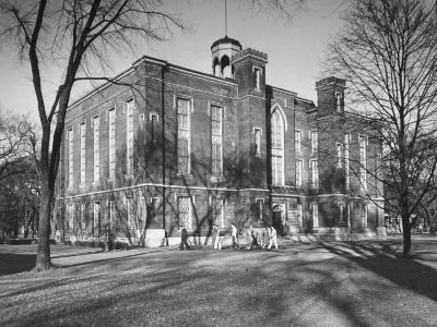 The Exterior of a Buliding on the Campus of Knox College-Bernard Hoffman-Photographic Print