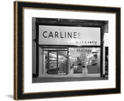 The Exterior of Carlines Self Service Store, Mexborough, South Yorkshire, 1960-Michael Walters-Framed Photographic Print