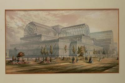 The Exterior of Crystal Palace, Sydenham-George Baxter-Giclee Print