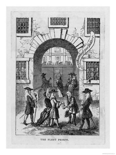 The Exterior of Fleet Prison with Debtor's Grate--Giclee Print