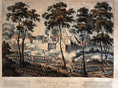 The Exterior of Hougoumont at the Commencement of the Battle of Waterloo, 18th June 1815,…--Giclee Print