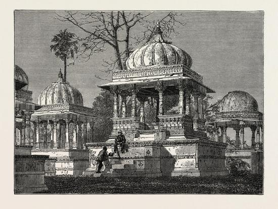 The Exterior of the Cemetery of Mara Sati, at Ahar, Near Oodeypore, India--Giclee Print