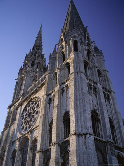 The Exterior of the Christian Cathedral, Chartres, Eure Et Loir, Centre, France-Jonathan Hodson-Photographic Print
