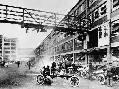 The Exterior of the Model T Factory, 1914--Photographic Print