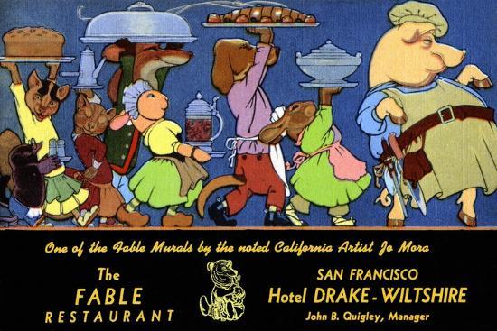 The Fable Restaurant-Jo Mora-Art Print