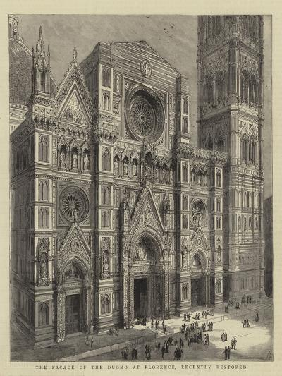 The Facade of the Duomo at Florence, Recently Restored--Giclee Print