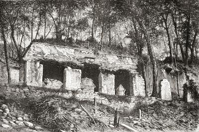 The Facade of the Palace at Palenque, Southern Mexico--Giclee Print
