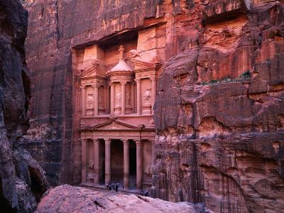 The Facade of the Treasury (Al-Khazneh), Petra, Ma'An, Jordan-Anders Blomqvist-Photographic Print