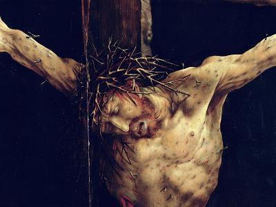 The Face of Christ, Detail from the Crucifixion from the Isenheim Altarpiece, circa 1512-16-Matthias Gr?newald-Giclee Print
