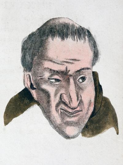 The Facial Characteristics of a Cheating, Deceptive Tempered Person, 1808-Johann Kaspar Lavater-Giclee Print