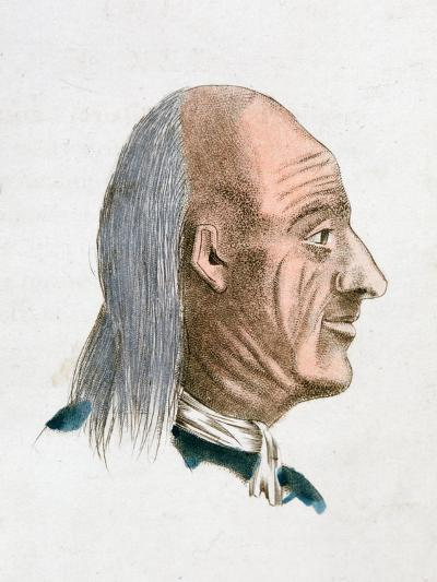 The Facial Characteristics of a Jovial and Kind Person, 1808-Johann Kaspar Lavater-Giclee Print