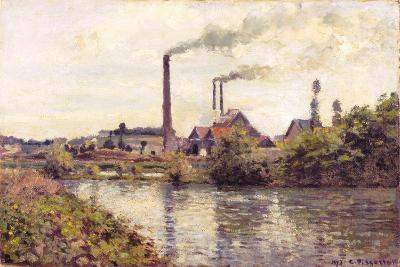 The Factory at Pontoise, 1873-Camille Pissarro-Giclee Print