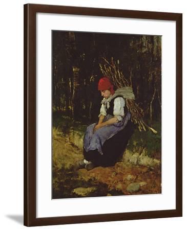 The Faggot Gatherer-Mihaly Munkacsy-Framed Giclee Print