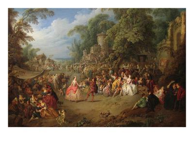 The Fair at Bezons-Jean-Baptiste Pater-Art Print