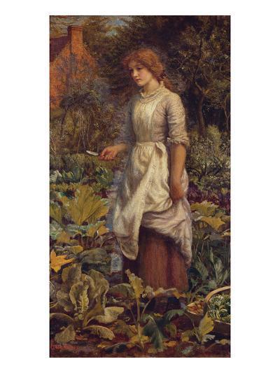 The Fair Gardener-Arthur Hughes-Giclee Print