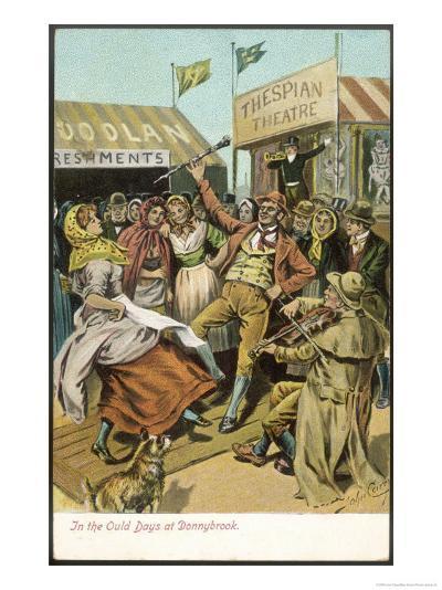 The Fair Held Until 1855 at Donnybrook-John Carey-Giclee Print