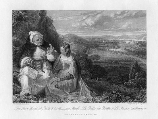 The Fair Maid of Perth and Carthusian Monk, 1845-Peter Lightfoot-Giclee Print