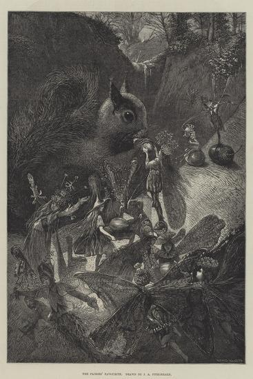 The Fairies' Favourite-John Anster Fitzgerald-Giclee Print