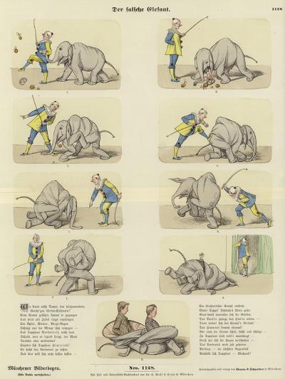 The Fake Elephant--Giclee Print