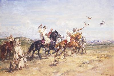 The Falcon Chase; La Chasse Au Falcon, 1923-Henri Emilien Rousseau-Giclee Print