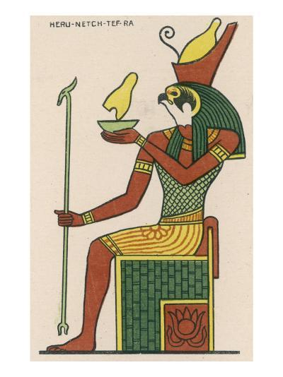 The Falcon-God Horus Has Many Forms : This Is Heru-Netch- Tef-Ra--Giclee Print
