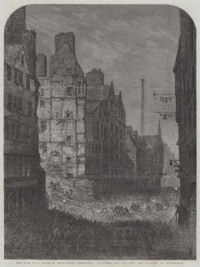 The Fall of a House in High-Street, Edinburgh, Searching for the Dead and Wounded by Torchlight--Giclee Print
